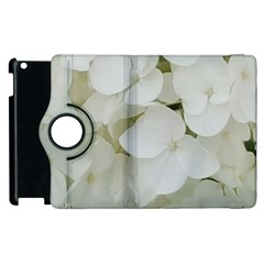 Hydrangea Flowers Blossom White Floral Photography Elegant Bridal Chic  Apple Ipad 3/4 Flip 360 Case by yoursparklingshop
