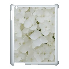 Hydrangea Flowers Blossom White Floral Photography Elegant Bridal Chic  Apple Ipad 3/4 Case (white) by yoursparklingshop