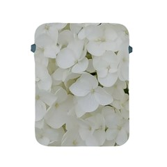 Hydrangea Flowers Blossom White Floral Photography Elegant Bridal Chic  Apple Ipad 2/3/4 Protective Soft Cases by yoursparklingshop