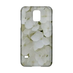 Hydrangea Flowers Blossom White Floral Photography Elegant Bridal Chic  Samsung Galaxy S5 Hardshell Case  by yoursparklingshop