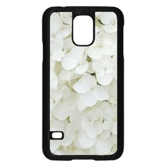 Hydrangea Flowers Blossom White Floral Photography Elegant Bridal Chic  Samsung Galaxy S5 Case (black) by yoursparklingshop