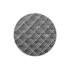 Pattern Metal Pipes Grid Magnet 3  (round)