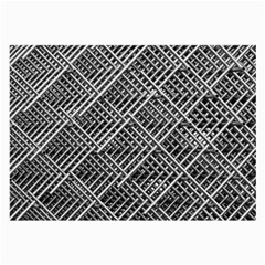 Pattern Metal Pipes Grid Large Glasses Cloth by Nexatart