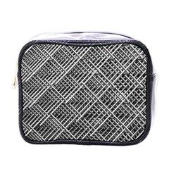 Pattern Metal Pipes Grid Mini Toiletries Bags by Nexatart