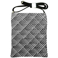 Pattern Metal Pipes Grid Shoulder Sling Bags by Nexatart