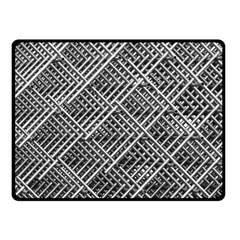 Pattern Metal Pipes Grid Fleece Blanket (small) by Nexatart