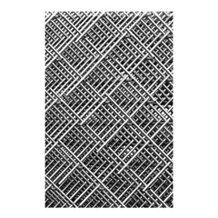 Pattern Metal Pipes Grid Shower Curtain 48  X 72  (small)  by Nexatart