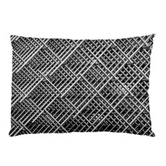 Pattern Metal Pipes Grid Pillow Case (two Sides)