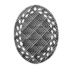 Pattern Metal Pipes Grid Oval Filigree Ornament (two Sides)