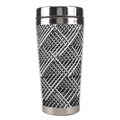 Pattern Metal Pipes Grid Stainless Steel Travel Tumblers
