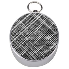 Pattern Metal Pipes Grid Silver Compasses