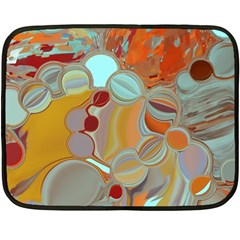 Liquid Bubbles Fleece Blanket (mini) by digitaldivadesigns