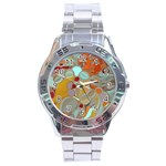 Liquid Bubbles Stainless Steel Analogue Watch Front