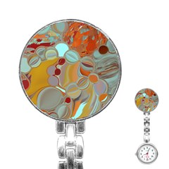 Liquid Bubbles Stainless Steel Nurses Watch by digitaldivadesigns