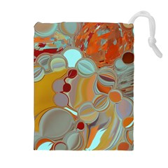 Liquid Bubbles Drawstring Pouches (Extra Large)