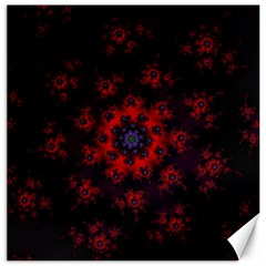 Fractal Abstract Blossom Bloom Red Canvas 16  X 16   by Nexatart