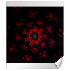Fractal Abstract Blossom Bloom Red Canvas 20  X 24   by Nexatart