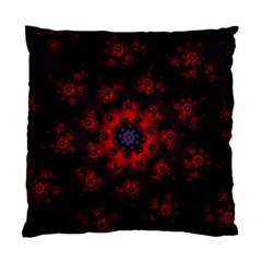 Fractal Abstract Blossom Bloom Red Standard Cushion Case (one Side) by Nexatart
