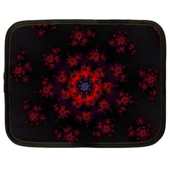 Fractal Abstract Blossom Bloom Red Netbook Case (xxl)  by Nexatart