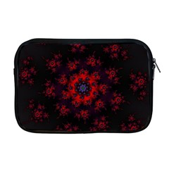 Fractal Abstract Blossom Bloom Red Apple Macbook Pro 17  Zipper Case by Nexatart