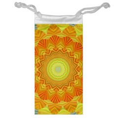 Sunshine Sunny Sun Abstract Yellow Jewelry Bag
