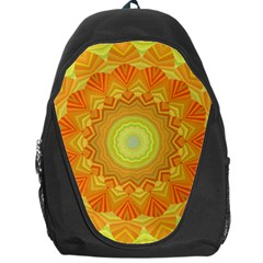 Sunshine Sunny Sun Abstract Yellow Backpack Bag by Nexatart