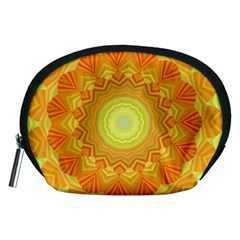 Sunshine Sunny Sun Abstract Yellow Accessory Pouches (medium)