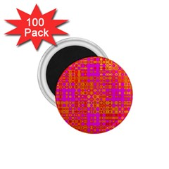 Pink Orange Bright Abstract 1 75  Magnets (100 Pack)  by Nexatart