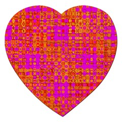 Pink Orange Bright Abstract Jigsaw Puzzle (heart) by Nexatart