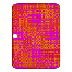 Pink Orange Bright Abstract Samsung Galaxy Tab 3 (10 1 ) P5200 Hardshell Case