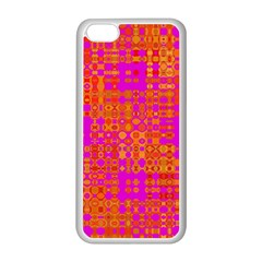 Pink Orange Bright Abstract Apple Iphone 5c Seamless Case (white) by Nexatart