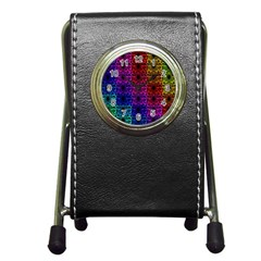 Rainbow Grid Form Abstract Pen Holder Desk Clocks