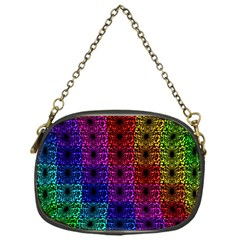 Rainbow Grid Form Abstract Chain Purses (one Side)  by Nexatart