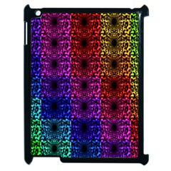 Rainbow Grid Form Abstract Apple Ipad 2 Case (black) by Nexatart