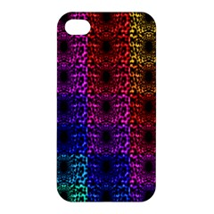 Rainbow Grid Form Abstract Apple Iphone 4/4s Premium Hardshell Case