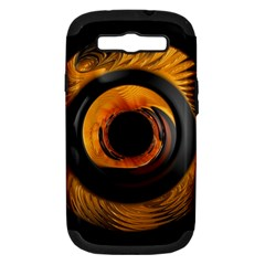 Fractal Pattern Samsung Galaxy S Iii Hardshell Case (pc+silicone) by Nexatart