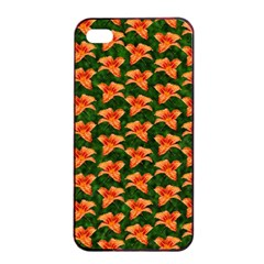 Background Wallpaper Flowers Green Apple Iphone 4/4s Seamless Case (black) by Nexatart