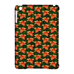 Background Wallpaper Flowers Green Apple Ipad Mini Hardshell Case (compatible With Smart Cover) by Nexatart