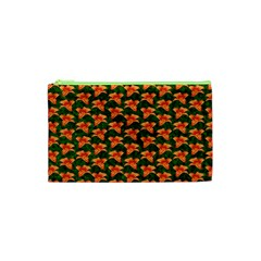 Background Wallpaper Flowers Green Cosmetic Bag (xs) by Nexatart