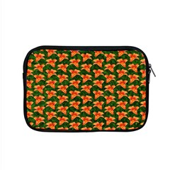Background Wallpaper Flowers Green Apple Macbook Pro 15  Zipper Case by Nexatart
