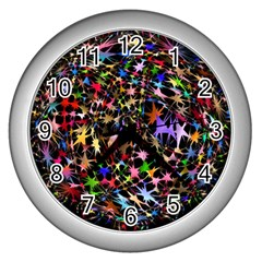 Network Integration Intertwined Wall Clocks (silver)  by Nexatart