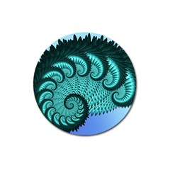 Fractals Texture Abstract Magnet 3  (round)