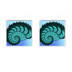 Fractals Texture Abstract Cufflinks (square)