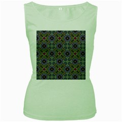 Vintage Abstract Unique Original Women s Green Tank Top by Nexatart