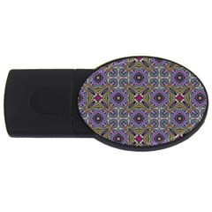 Vintage Abstract Unique Original Usb Flash Drive Oval (4 Gb) by Nexatart