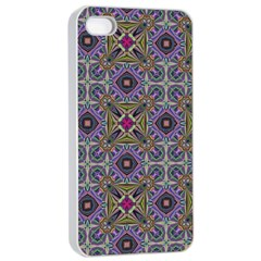 Vintage Abstract Unique Original Apple Iphone 4/4s Seamless Case (white)