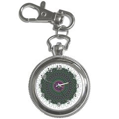 Pattern District Background Key Chain Watches by Nexatart