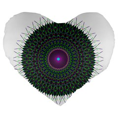 Pattern District Background Large 19  Premium Flano Heart Shape Cushions by Nexatart