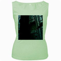 Graphic Design Background Women s Green Tank Top