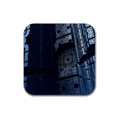 Graphic Design Background Rubber Coaster (square)  by Nexatart